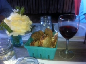 Flowers, Bread and Wine...all straight from the farm to the table!