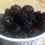 Summer is a bowl of blackberries