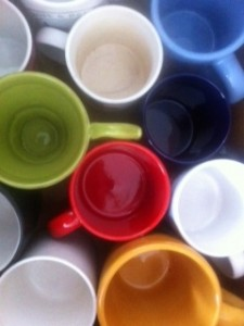 I got rid of 31 mugs!