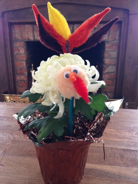 he Most Awesome Thanksgiving Centerpiece Ever-from my young friend, Ellen Grace. Thank you!